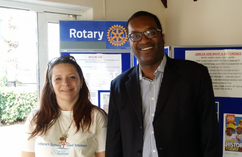 Alison with Kwasi Kwarteng MP
