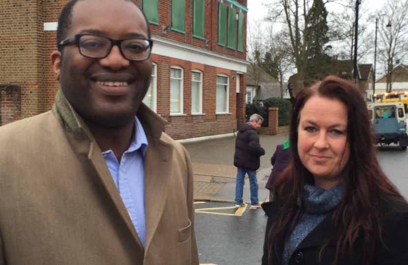 Kwasi Kwarteng MP with Denise