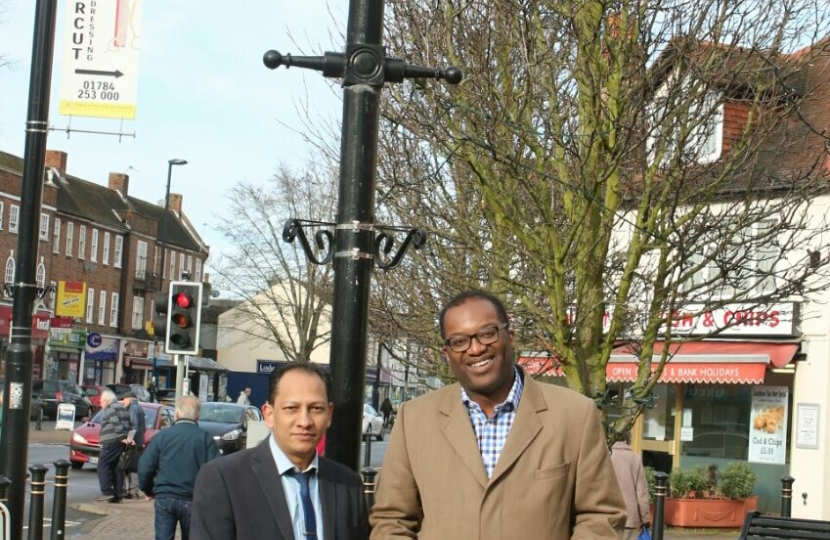 Naz with Kwasi Kwarteng MP