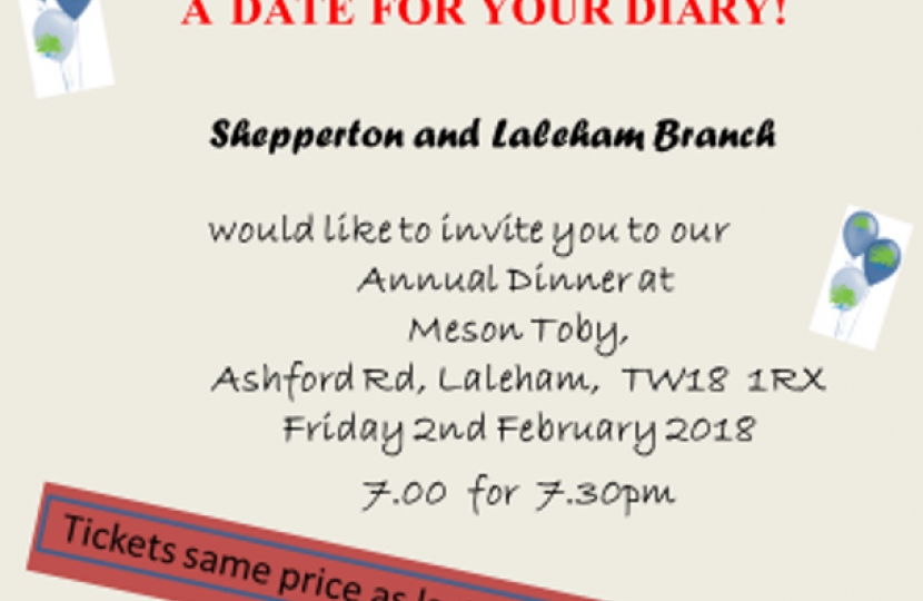 Shepperton and Laleham Annual Dinner 2018